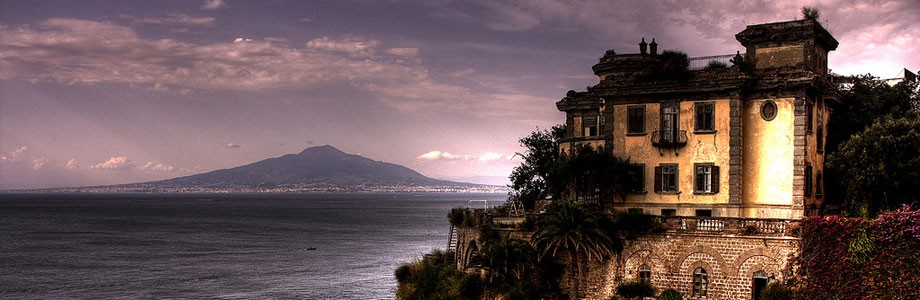View of the Gulf of Naples from Sorrento